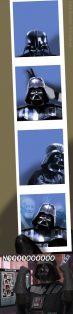 Darth Vader tirando foto