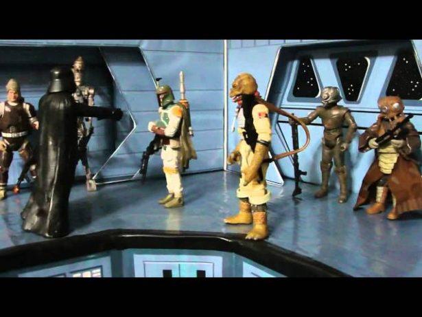 Meu Mundo Star Wars – Diorama Darth Vader e os Bounty Hunters