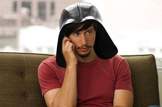 RUMOR: Adam Driver, o vilão do episódio VII, pode ser o filho de Han e Leia !!!