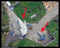 Millennium Falcon e X-Wing são vistas no set do Episódio VII