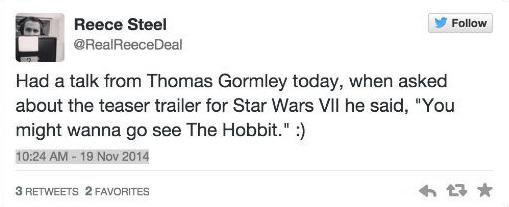 The Force Awakens pode ter trailer em sessões de O Hobbit - A Batalha dos Cinco Exércitos (ou não)