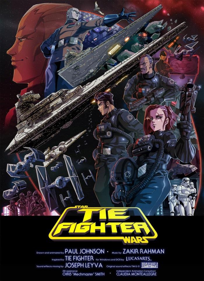 Animador termina curta-metragem em estilo anime – Star Wars: TIE Fighter
