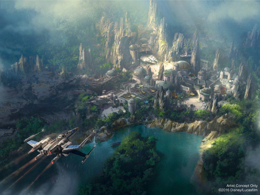 Disney revela nova imagem conceitual do parque temático Star Wars