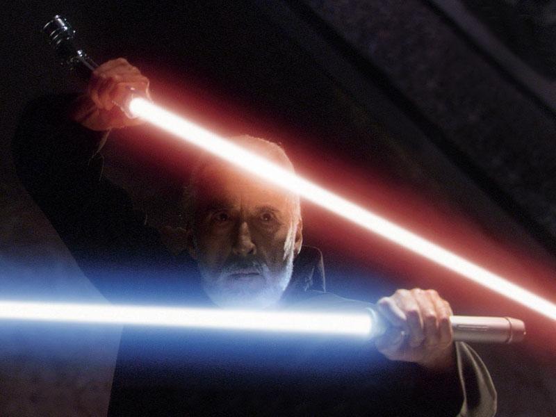 Cena deletada de duelo de sabres de luz. Não tem em DVD nem em extras de Blu-ray, mas existe!
