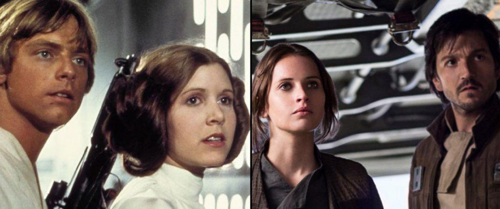O que Rogue One tem que os outros filmes de Star Wars não tem...?