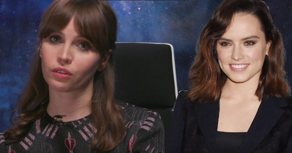 Felicity Jones grava vídeo para não ser confundida com Daisy Ridley