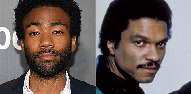 Versão jovem de Lando Calrissian e intérprete original são vistos juntos