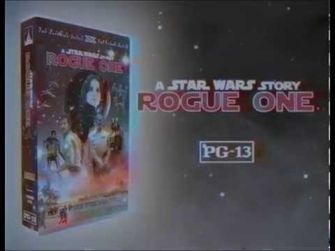 E fizeram um comercial retrô do VHS de ROGUE ONE!