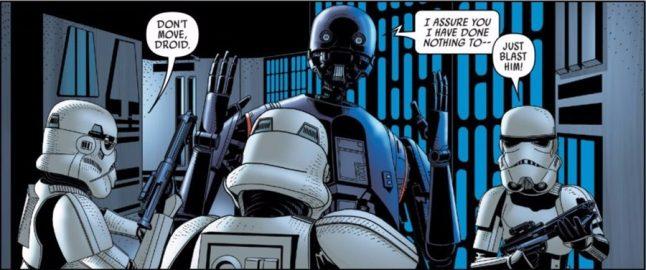 Robô pessimista de Rogue One pode ter sido recuperado pelo Império