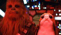 Chewbacca não se dá bem com os porgs em novo comercial
