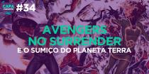 Capa Variante 34 - Avengers No Surrender e o sumiço do planeta Terra