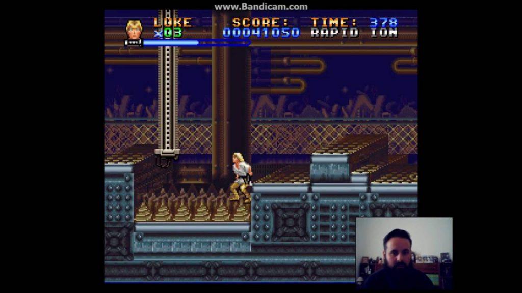 Super Star Wars – Gameplay 4 – Sandcrawler (Inside) e Boss: Lava Beast Jawenko